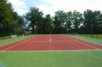 The tennis court